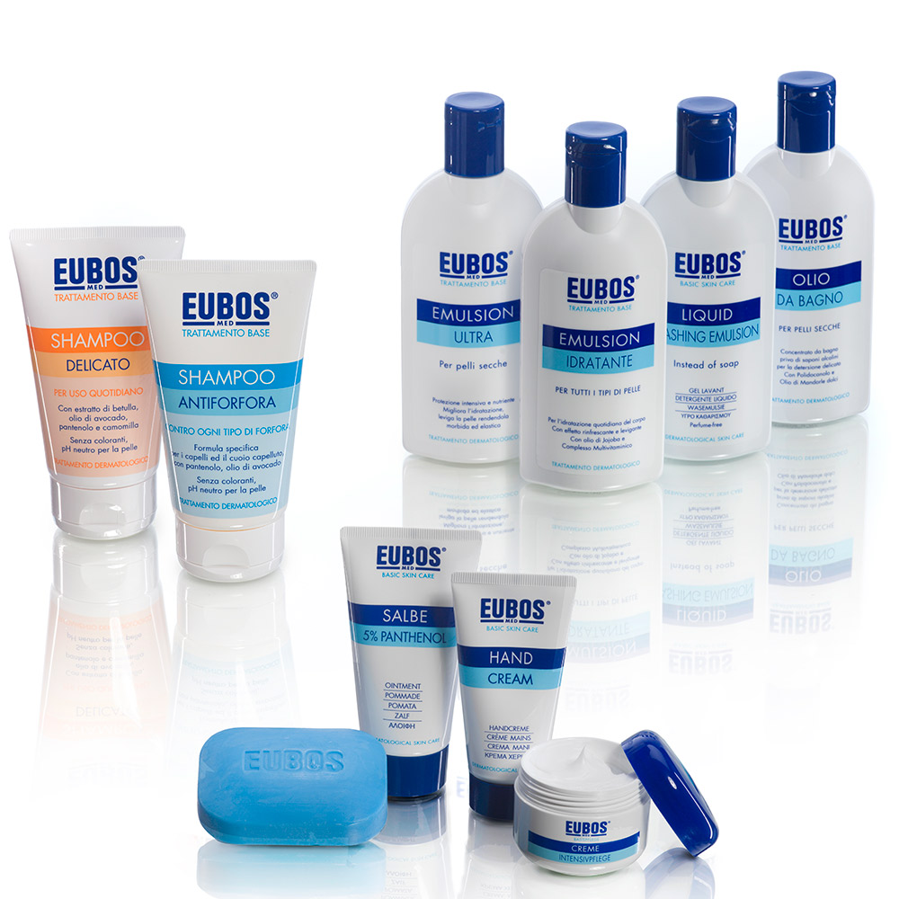 eubos skin care linea base packaging agenzia Studio Bluart, graphic design, castelfranco veneto