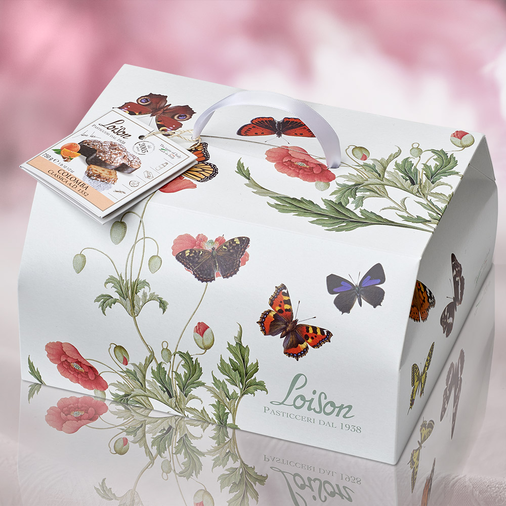 loison packaging colomba pasqua bauletto agenzia Studio Bluart, graphic design, castelfranco veneto