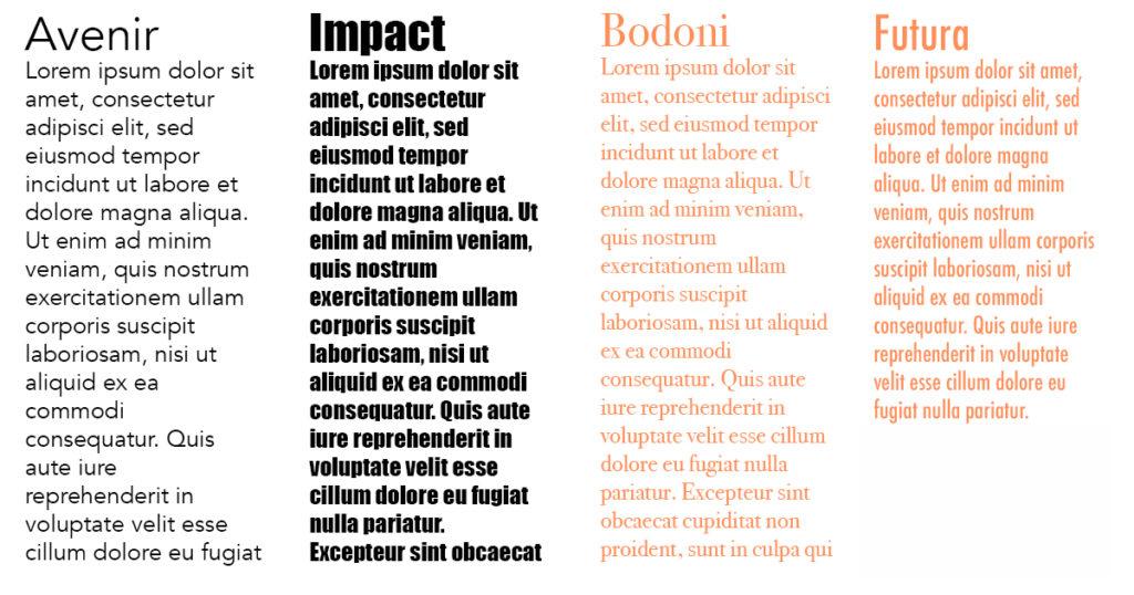 comunicazione coi font