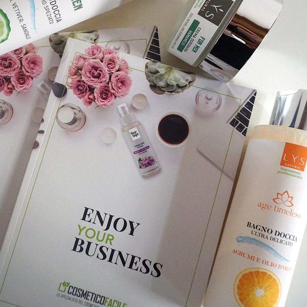 lys natural skin care cosmetico facile catalogo agenzia Studio Bluart, graphic design, castelfranco veneto